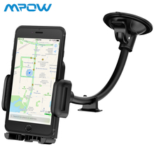 Mpow Car Phone Mount Stand Universal Long Arm Windshield Dashboard Holder with Anti-skid Base for 4-6 Cell Phones