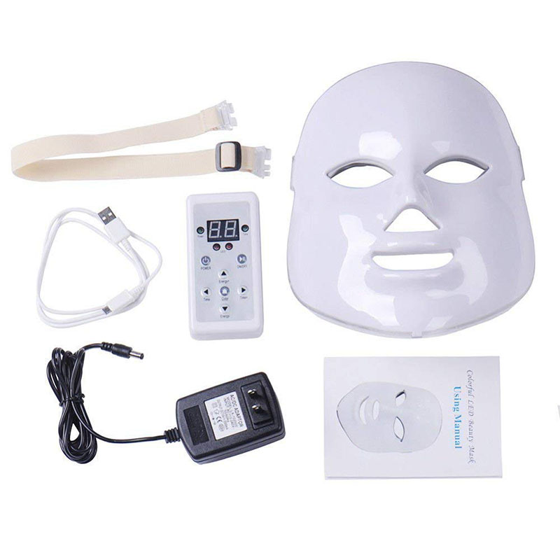 LED Facial Mask Therapy 7 Colors Face Mask Machine Photon Therapy Light Skin Care Wrinkle Acne Removal Face Beauty for Home useLED Facial Mask Therapy 7 Colors Face Mask Machine Photon Therapy Light Skin Care Wrinkle Acne Removal Face Beauty for Home use