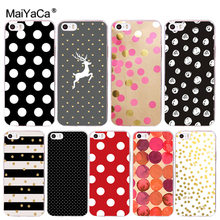 MaiYaCa For iphone 11 Pro 7 6 X Case Red Black Gold Polka dots Deer Phone Case for iphone 11 Pro 8 7 6 6S Plus X XS XR XSMAX(China)