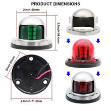 12V LED Bow Navigation Lights red or green Stainless Steel  sail signal light Marine Boat Pontoons Yacht Light 2019 drop ship