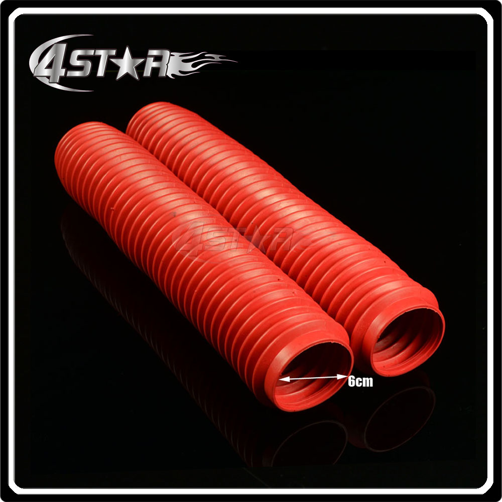 Fork Red Protector Anti Dust Covers Gaiters Boots Fit CR CRF CR125 150 250 500 CRF230 250R 250X 450R 450X Dirt Bike Motorcycle 270mm front brake disc rotor for cr 125 250 500 crf 250r 250x 450x 450r 230f motocross supermoto enduro dirt bike off road