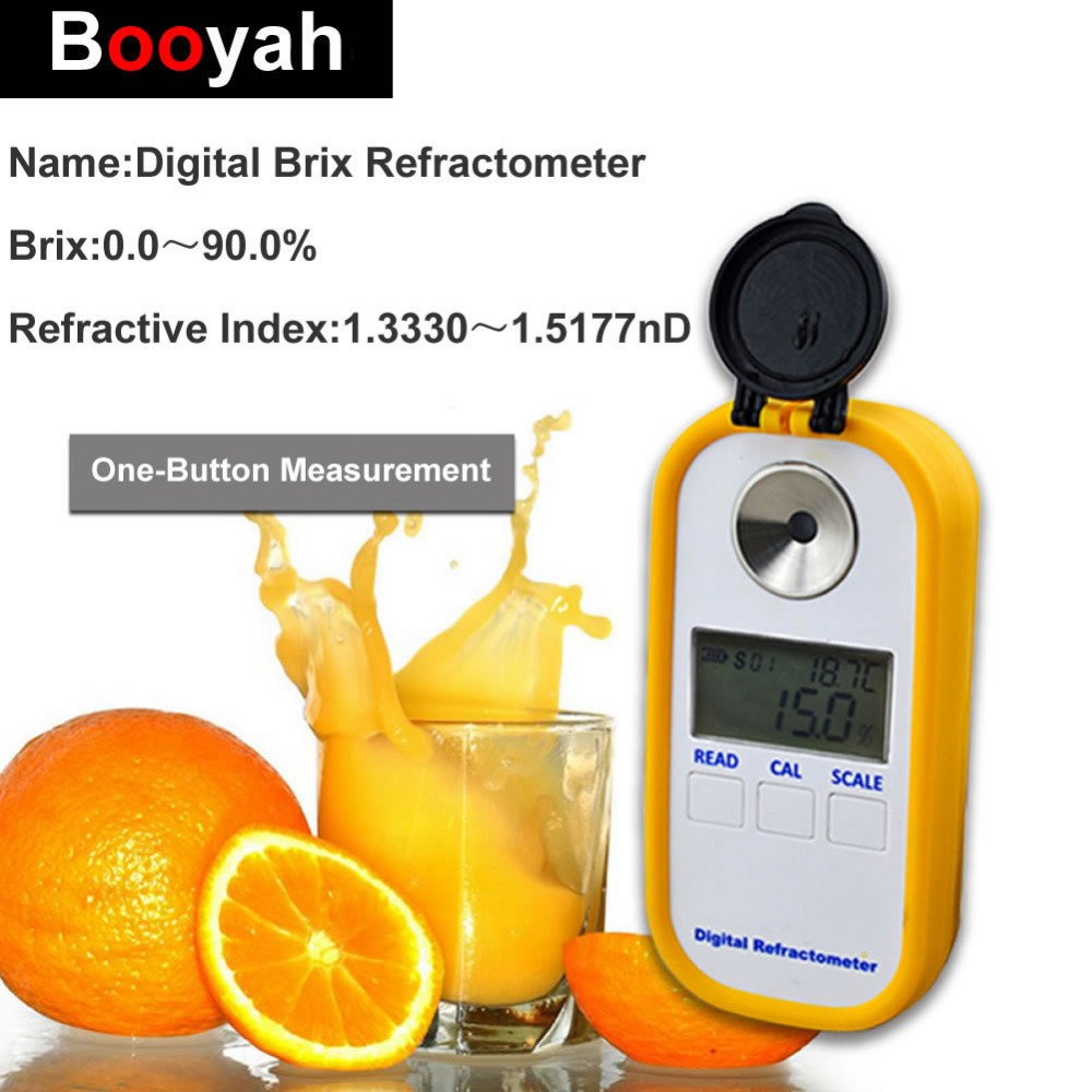 Original Booyah DR102 Digital Brix Refractometer Rubber Latex Release Agent Test Instrument 0-90% Food Beverage Sweetness Meter lumion бра lumion ponso 3408 1w
