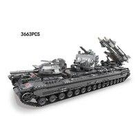 Горячая современные мировых войн KV 2 военные ракетные танки Moc строительные блоки Модель Кирпичи Игрушки Коллекции для мальчиков подарки
