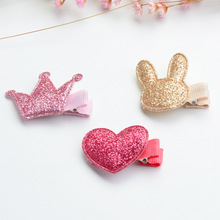1 PC Cute Style Baby Girls Children Shiny Crown Princess Hairpins Multistyles Rabbit Hair Clip Headbands Hair Accessories