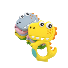 Chenkai 10PCS Silicone Dinosaur Teethers Baby Cute Cartoon Teething BPA Free For DIY Infant Dummy Sensory Pacifier Accessories