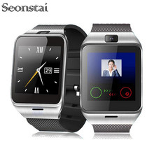 Seonstai GV18 Bluetooth Good Watch For Android LG Sony Assist SIM Card GSM Bluetooth three.zero Wearable Machine With Digital camera NFC