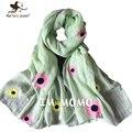 Bonito bordados de flores crianças cachecol doce Design puro algodão cachecóis para crianças inverno quente Neck princesa meninas lenços