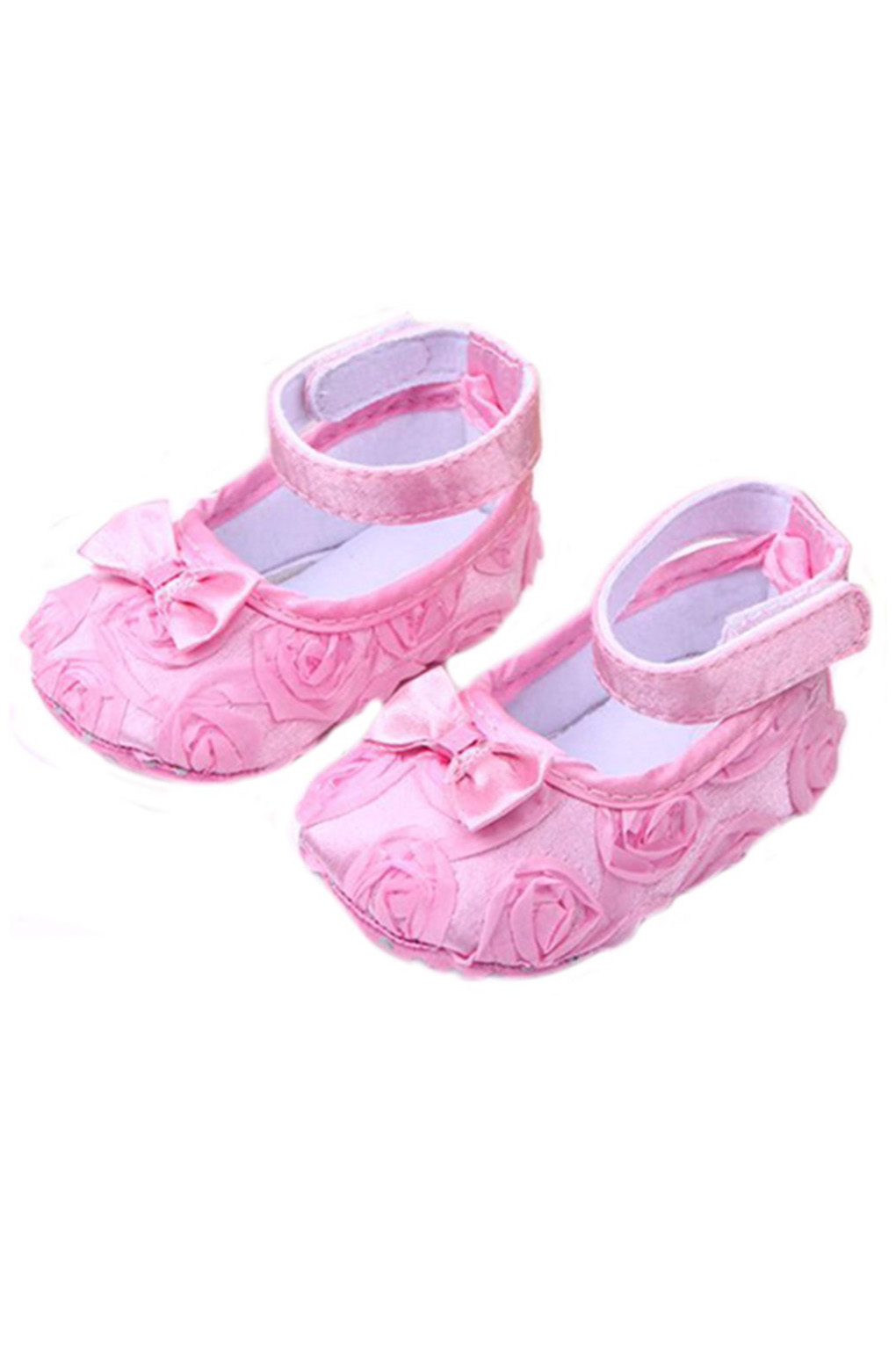 ABWE Best Sale Baby Girl Comfortable AntiSlip Princess Toddler Shoes (0-6 month, Pink)