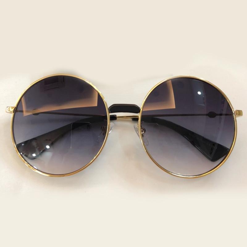 2018 Legierung Sunglasses no2 No1 Schutz no3 Retro Designer Sonnenbrille Sunglasses no4 Objektiv Qualität Marke Uv400 Gradienten Neue Frauen Sunglasses Rahmen Shades Runde Hohe Sunglasses wx4HXP
