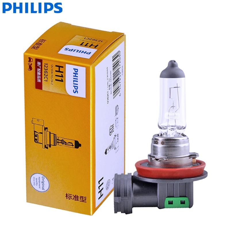 Philips Vision H11 12V 55W 12362C1 +30% More Bright Original Light Car Halogen Headlight Auto Bulb Fog Lamp OEM Quality (Single)