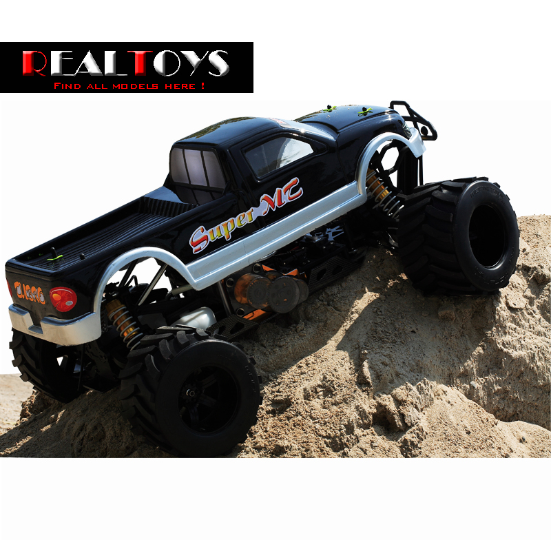 buy fs racing 1 4 scale 4x4 35cc gas monster truck remote control car rc with. Black Bedroom Furniture Sets. Home Design Ideas