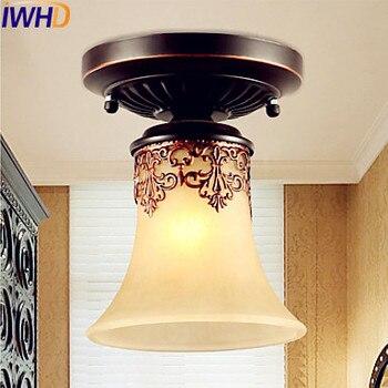 Lámparas de techo Retro Vintage de estilo europeo Plafonnier, lámparas de habitación para salón, lámparas de techo empotradas para cafetería, iluminación para el hogar
