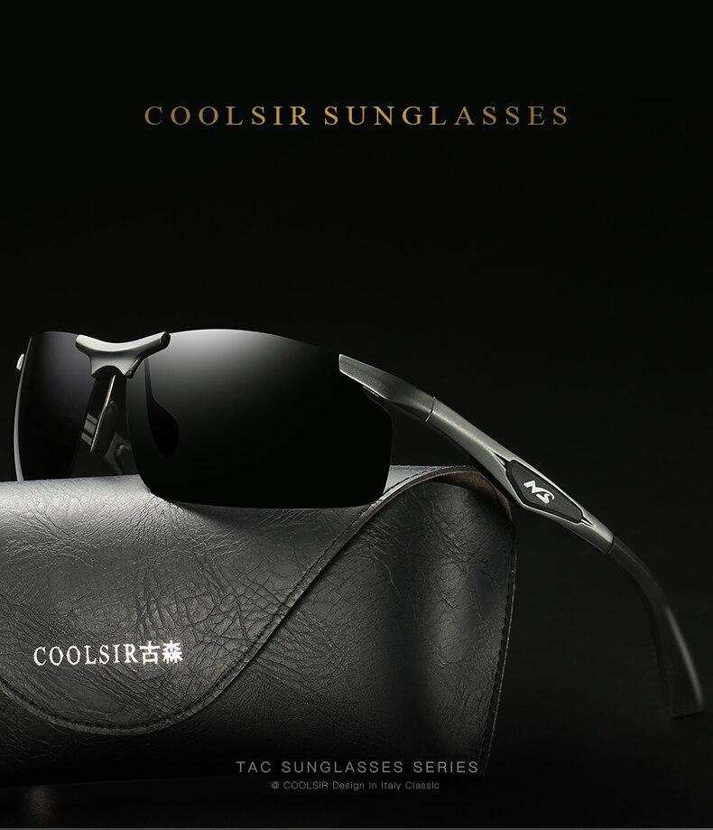 2c2568aa8e9 COOLSIR Vintage Sunglasses Men Polarized Aluminium Clot Goggles Sun ...
