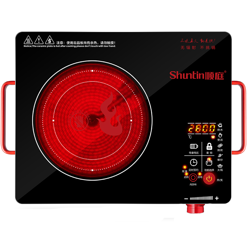 2800W power table electric induction cooker for a variety of pot 220v 600w 1 2l portable multi cooker mini electric hot pot stainless steel inner electric cooker with steam lattice for students
