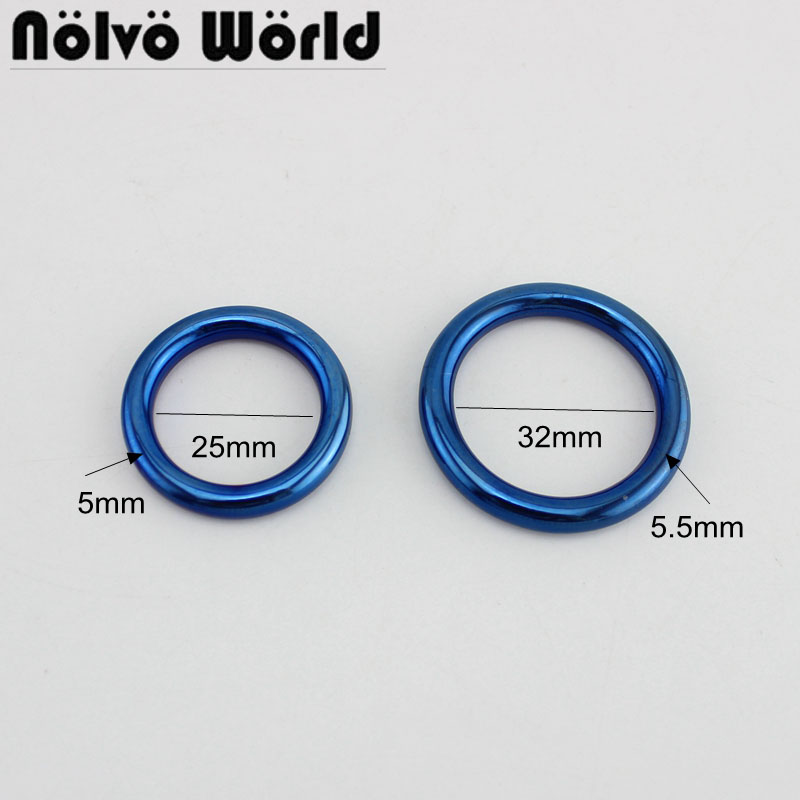 10 Pieces IP Blue Tone,25cm  32cm Multi-Purpose Metal O Ring Buckle Welded For Bags