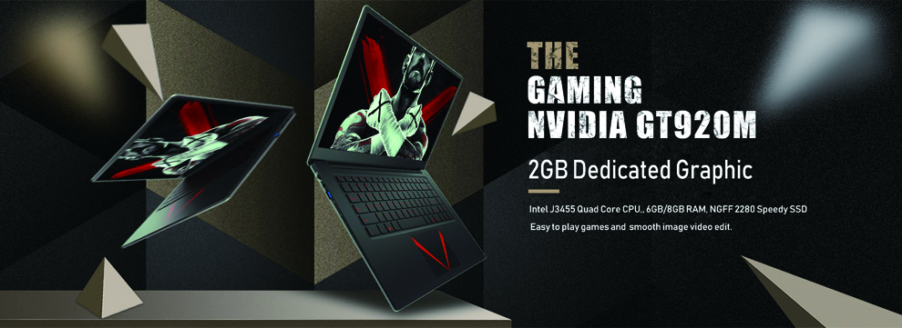 15.6inch Gaming Laptop 8GB Ram Intel Quad Core CPU 1920X1080P IPS Windows 10 System 2GB GT920M Graphic Card Notebook Computer