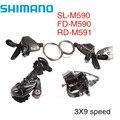 Shimano Deore M590 переключатель Groupset SL-M590 FD-M590 3x9s 27 скорость 3 шт. рычаги переключения передач Передний Задний переключатель
