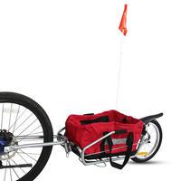 2 in 1 bisiklet römorku ile Ücretsiz Çanta  16 inç dolgu tekerlek Dağ bisiklet römorku yükleyebilirsiniz 66LB  tek tekerlek römork ve Gezginci|Bisiklet Çocuk Koltukları ve Römorkları|Anne ve Çocuk -