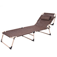 Chaise Lounge Outdoor Furniture Folding Beach Chair Three Positions Sun Lounger Recline or Lay Flat Tanning Massage