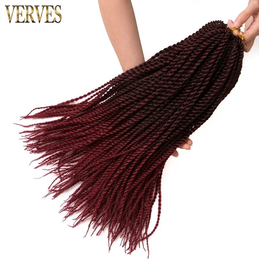 VERVES Ombre Crochet Braids 1 pack, 30 strands / pack 18 '', små - Syntetiskt hår - Foto 5