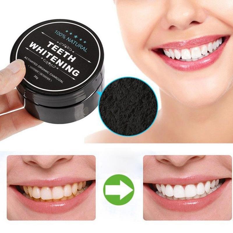 Carbone Dents blanchissant organique naturel bambou Charbon De bois dentifrice poudre hygiène buccale nettoyage Blanchiment Des Dents De Charbon