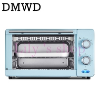 DMWD Mini household Oven Multifunctional Pizza cake Baking Oven with 60 Minutes Timer Stainless Steel Toaster 2 layers 11L 220V