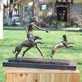 Statue von die hound hund mit die kunstwerke dekoration design dekoration Von Einrichtungs klassische business geschenke|Home Office Aufbewahrung|Heim und Garten -