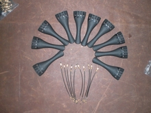 12 PCs Carbon Fiber Violin Tail Piece 15″ with 12 PCs Violin Nylon Guts