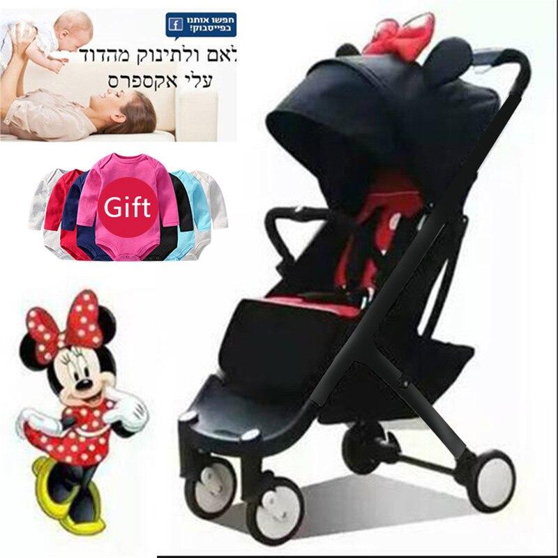 IL est gratuit! BabyYoyaplus bébé poussette 5.8 kg pliant bébé chariot nouveau-né utilisation pension poussette 11 cadeau gratuit 0-4 ans bébé