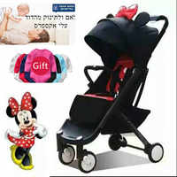 IL free ship! babyYoyaplus baby stroller 5.8kg folding baby carriage newborn use boarding stroller 11 free gift 0-4 years baby