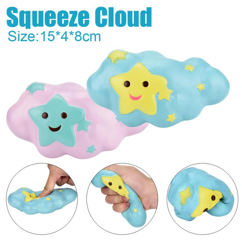 squishy new 15cm Cartoon Cloud Cream Scented Squishy Slow Rising Squeeze Toys <font><b>Phone</b></font> Charm <font><b>squish</b></font> scented 0817