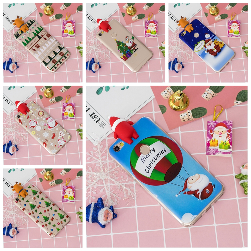 3D Christmas Silicone Case Cover For Xiaomi Redmi Made For Young Hearts