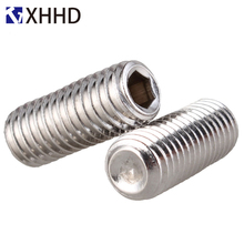 304 Stainless Steel Hex Socket Head Cap Set Grub Cup Point Screw Metric Thread Hexagon Headless Machine Bolt M4 M5 M6 M8 M10 m4 316 stainless steel grub screws cup point hex socket set screw
