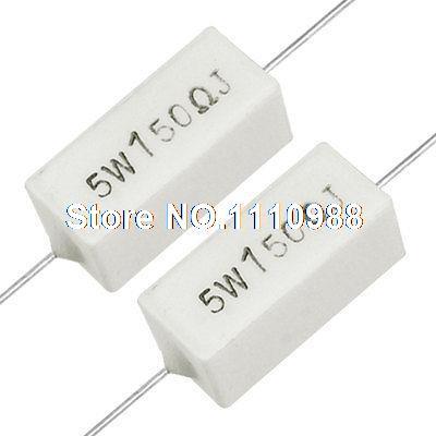 Ceramic Cement Power Resistor 3 Pieces 5W 75 Ohm 5 Watt