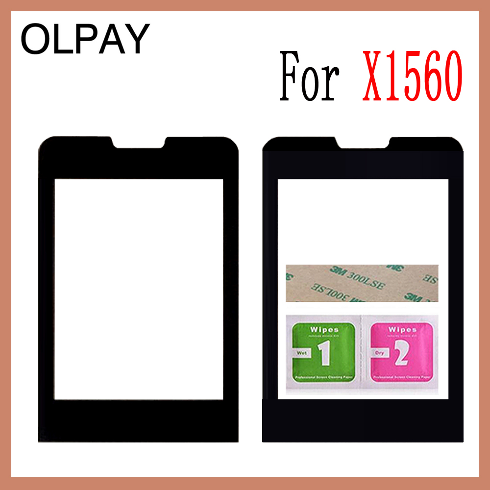 OLPAY 2.4 inch Original Lens Front Panel For Philips Xenium X1560 Touch Screen Cellphone Glass For X1560 LCD Mobile PhoneOLPAY 2.4 inch Original Lens Front Panel For Philips Xenium X1560 Touch Screen Cellphone Glass For X1560 LCD Mobile Phone