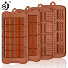 SJ 3D Chocolate Mold Silicone Cake Mold Cake Decorating Tools DIY Chocolate Baking Tools Non-Stick Jelly amp Candy Mould cheap Moulds CE EU LFGB Cake Tools Eco-Friendly Pastry Tools 22 5x10 5x1 5 CM cake decorating supplies Silicone Cake Mould -40F to +446F(-40c to +230c)