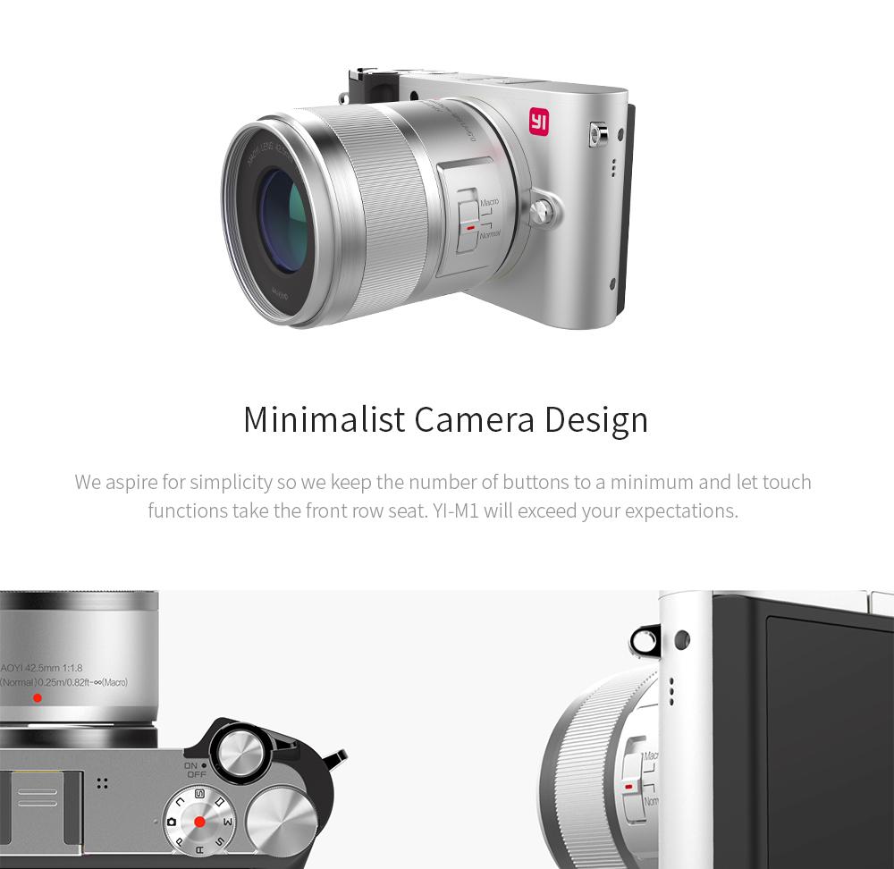 Yi M1 Mirrorless Digital Camera International Version With 12 Diagram Labeled Nikon J1 V1 Interchangeable Lens Product Description