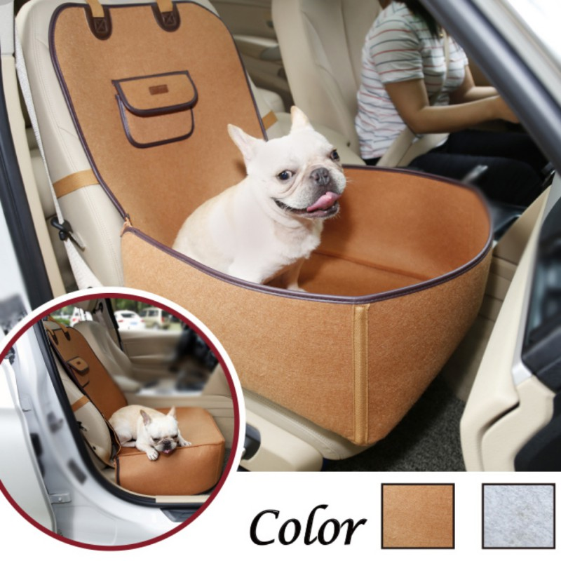 Pet Car Carrier Front Seat Cover Waterproof Puppy Basket Anti-Slip Dog Cat Car Booster Outdoor Travel Car Carrier Protector