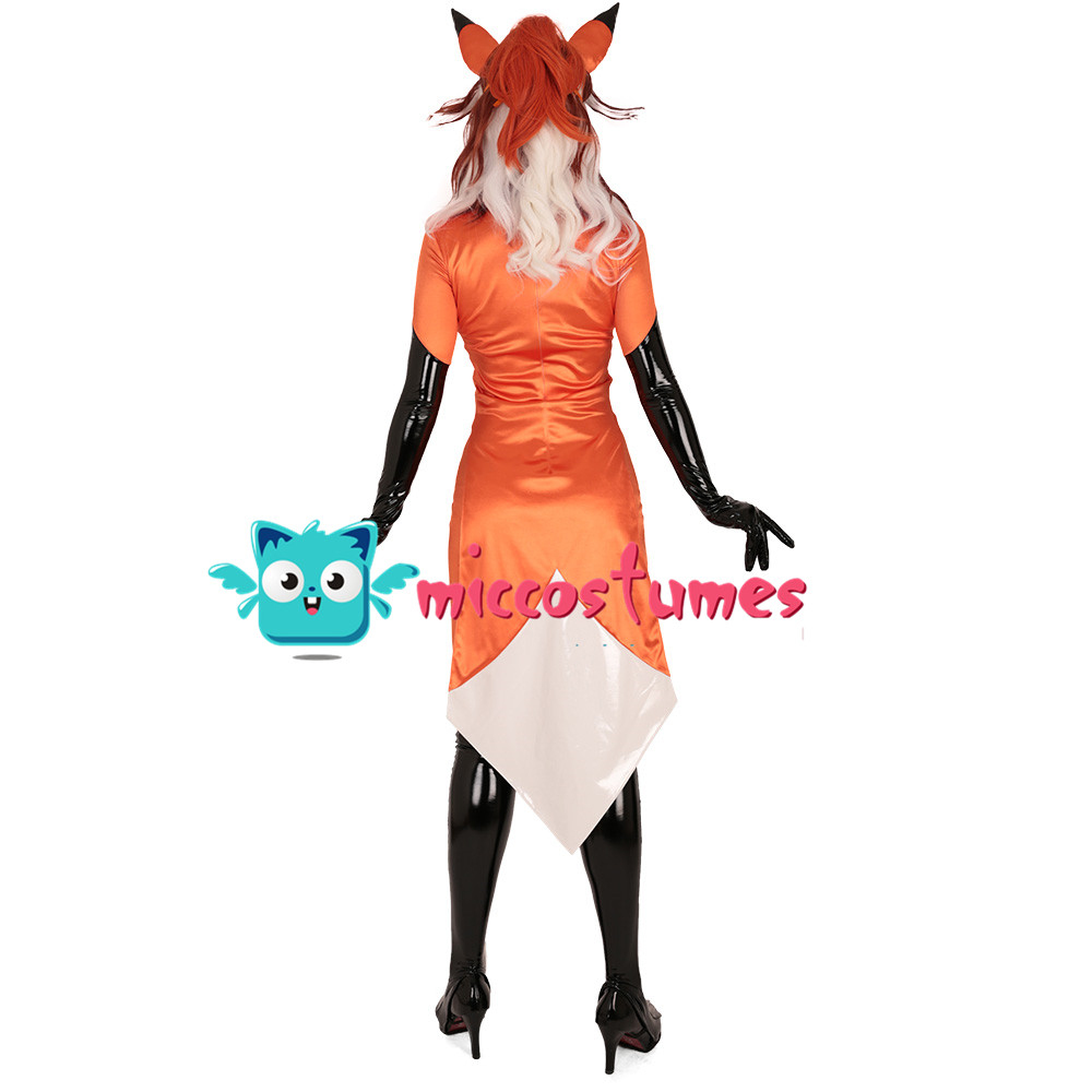 Alya Fox Cosplay Costume Bodysuit Jumpsuit Woman Halloween Outfit