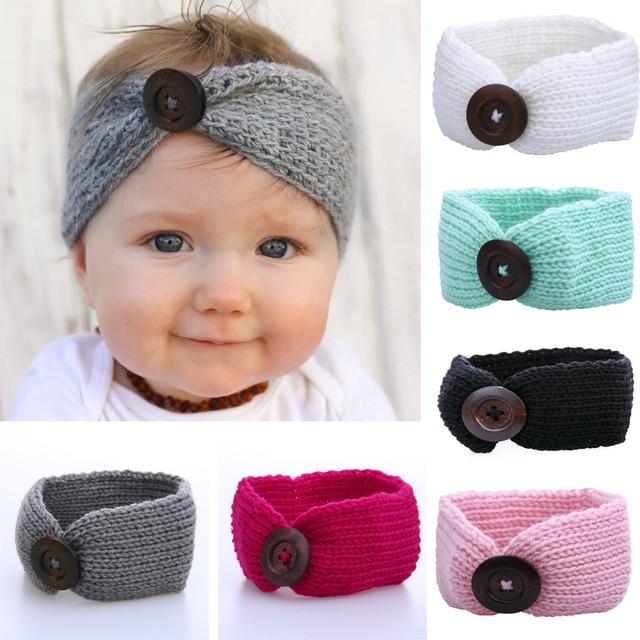 Baby Meisje Wol Gebreide Hoofdbanden Winter Kids Pasgeboren Haar