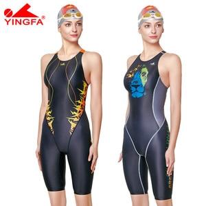 Image 1 - Yingfa treinamento profissional competição maiô feminino corrida de secagem rápida anti cloro banho feminino 635