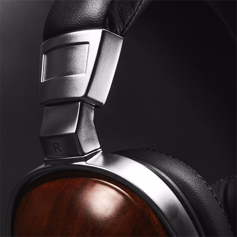 Original BossHifi B8 HiFi Wooden Metal Headphone Black Mahogany Headset Earphone With Beryllium Alloy Driver And protein Leather (8)