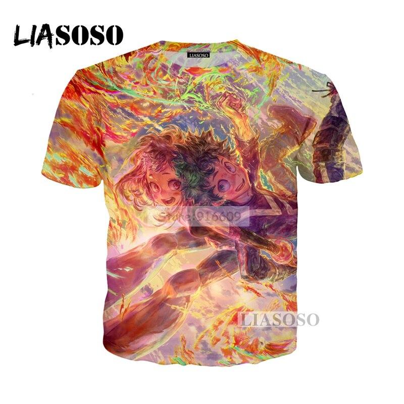 LIASOSO NEW Anime Boku No Hero My Hero Academia Cosplay Tees 3D Print t shirt/Hoodie/Sweatshirt Unisex Good Quality Tops G770