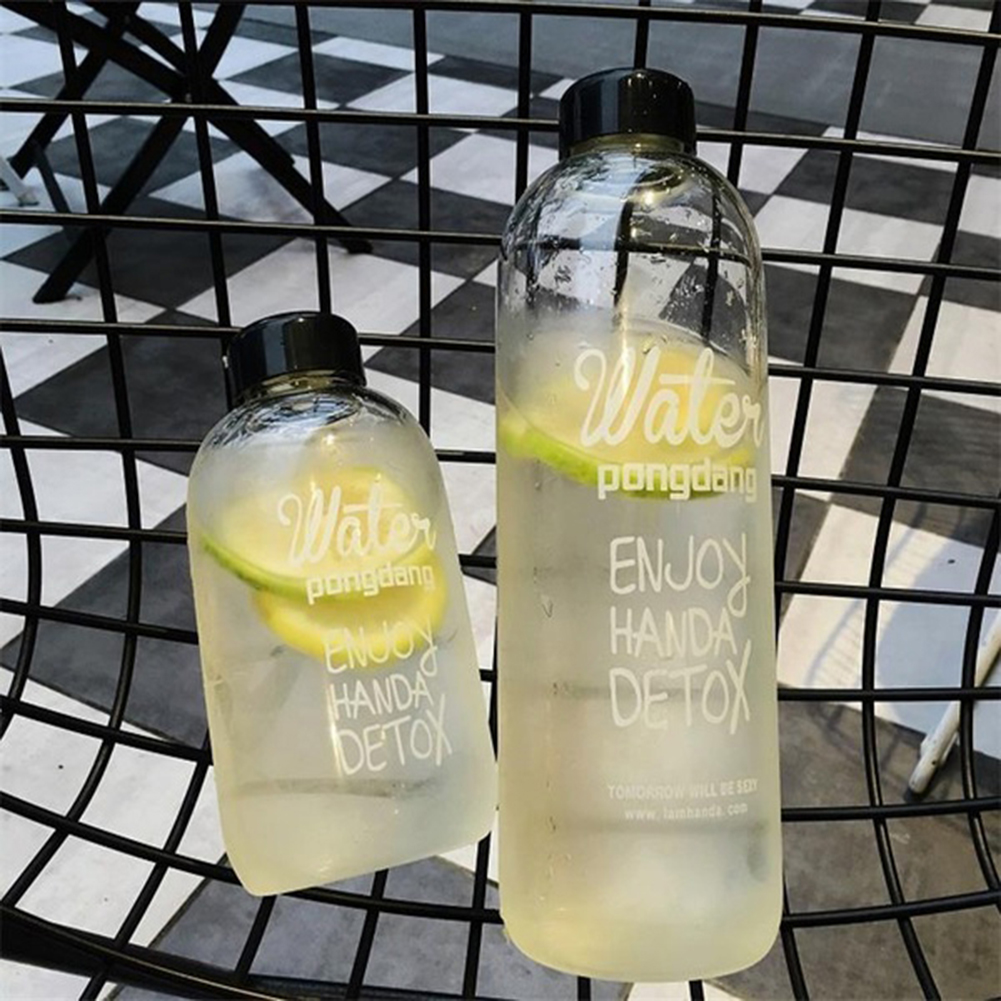 600/1000 мл портативная пластиковая бутылка для сока, воды, спорта, кемпинга, велоспорта, путешествий, модные бутылки большой емкости, термостойкая бутылка