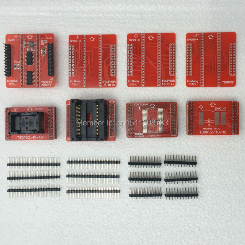 Adaptateurs d'origine TSOP32 TSOP40 TSOP48 SOP44 SOP56 kit adaptateur pour MiniPro TL866II TL866A TL866CS Programmeur Universel