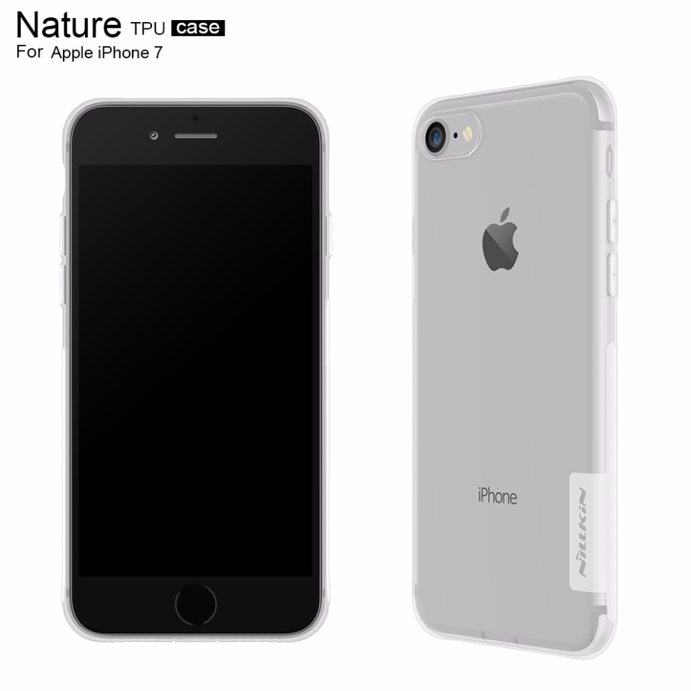 For iphone 7 cover case silicone TPU Transparent soft Silicon Cover Case 4.7 inch Nillkin phone case for iphone 7 case