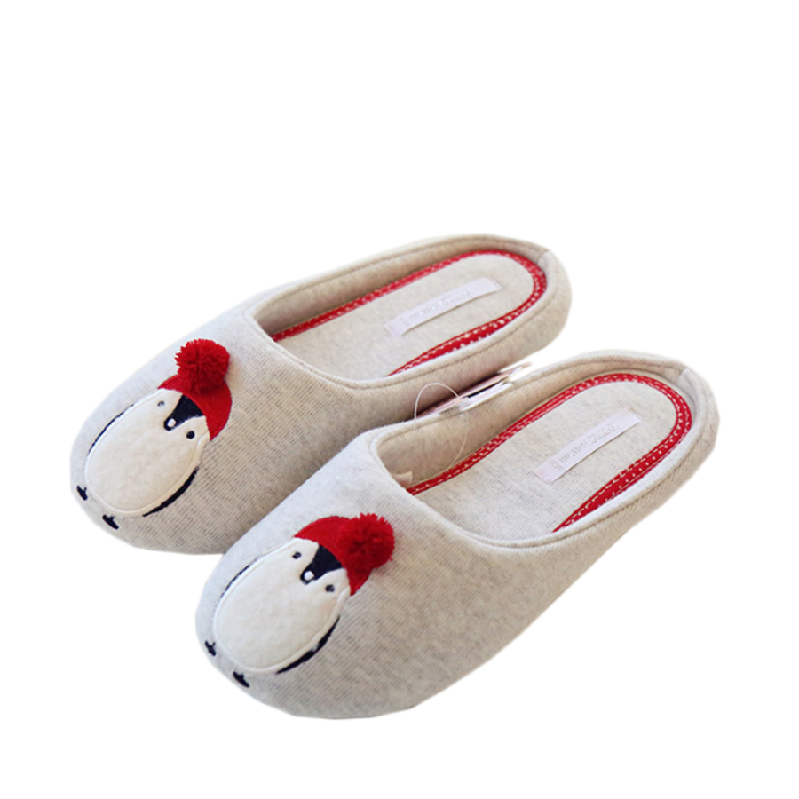 cotton cute slippers women penguin animal home slippers indoor shoes bedroom house adult guest. Black Bedroom Furniture Sets. Home Design Ideas