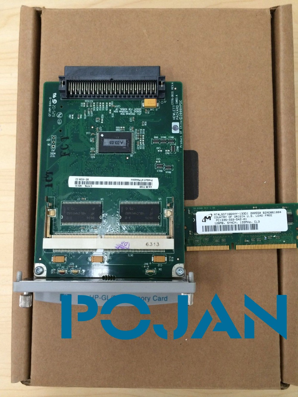 C7772A Designjet 500 plus GL2 Card Formatter Board Card +128M Fixes 05:09 05:10 plotter parts Free shipping