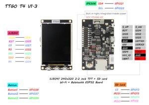 Image 5 - Лилиго®TTGO Настройка подсветки IP5306 I2C Psram 8 Мб макетная плата