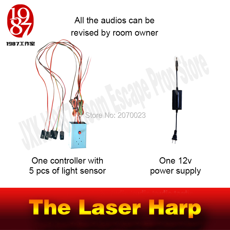 Image 2 - Takagism Game prop laser harp for room escape game puzzle clues device Play the right rhythm to unlock and get away chamber room-in Alarm System Kits from Security & Protection
